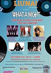 "Living Legends of the 60's Live in Concert at ""What A Night"" October 5"