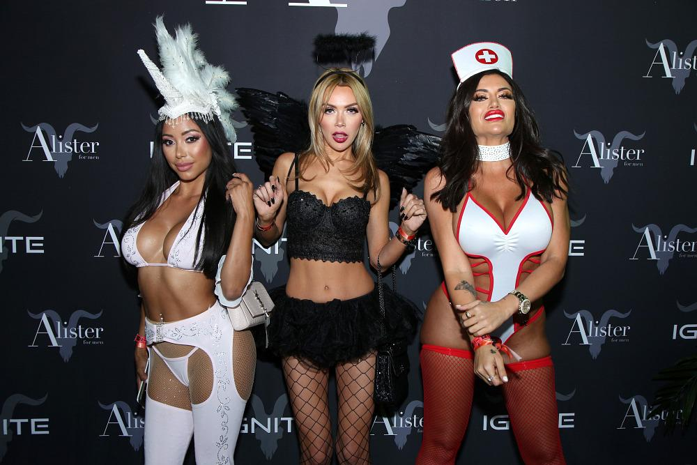 Guests attend Dan Bilzerian's Halloween Party sponsored (Photo by Randall Michelson/Getty Images for Ignite International, Ltd., Alister, and BlitzBet)