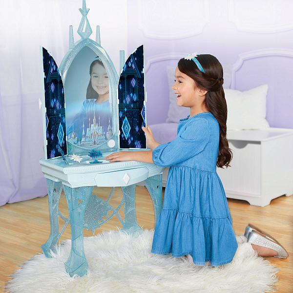Elsa's Enchanted Ice Vanity, Licensee: JAKKS Pacific, MSRP: $69.99 Available: Oct. 4 at mass retailers