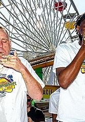 Joey Chestnut Wins Second-Annual Pacific Park World Taco-Eating Championship; Demolishes 82 Street-Style Carnitas Tacos In 8 Minutes