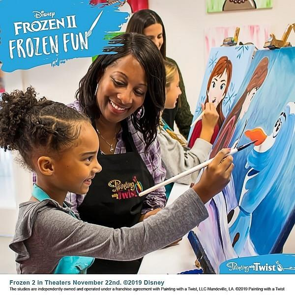 Painting with a Twist Teams Up with Disney for 'Frozen 2' Family-Friendly DIY Painting Events Nationwide