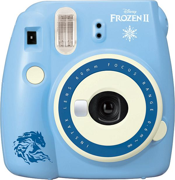 NSTAX Mini 9 Frozen 2 Instant Print Camera,  Licensee: Fujifilm, SRP: $79.99 Available: Oct. 4 at Walmart, Amazon, AAFES, Marine Corps, the Navy Exchange, and Transworld