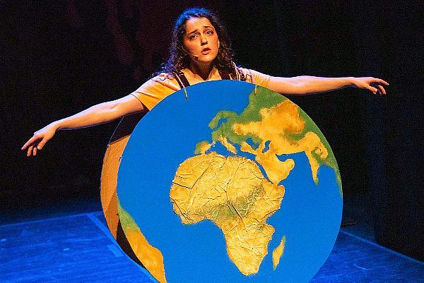 "Girl as Earth in ""Hooked on Happiness"" - Photo credit: Russ Rowland"