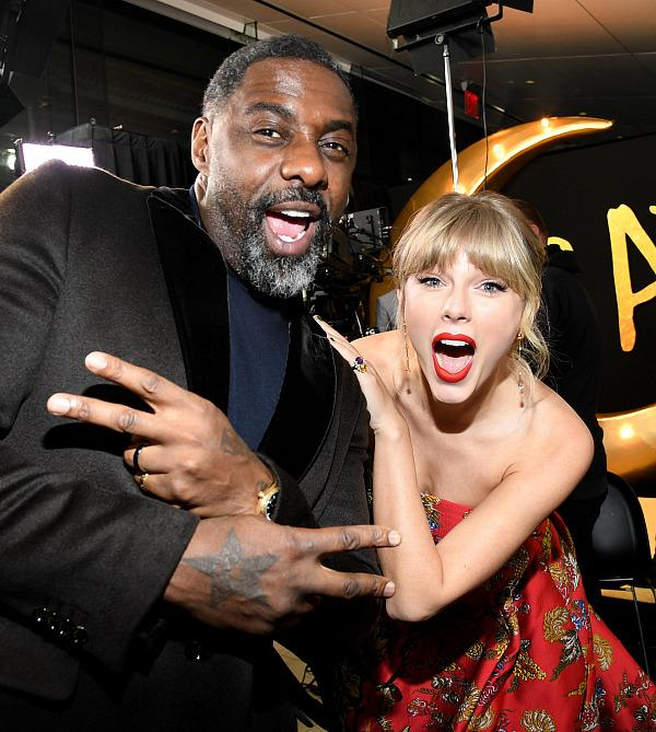 Idris Elba and Taylor Swift attend The World Premiere of Cats, presented by Universal Pictures on December 16, 2019 in New York City. (Photo by Kevin Mazur/Getty Images for Universal Pictures)