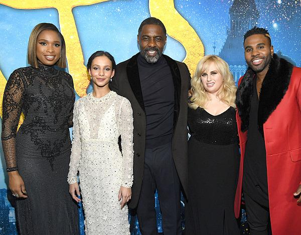 Jennifer Hudson, Francesca Hayward, Idris Elba, Rebel Wilson, and Jason Derulo attend The World Premiere of Cats, presented by Universal Pictures on December 16, 2019 in New York City. (Photo by Kevin Mazur/Getty Images for Universal Pictures)