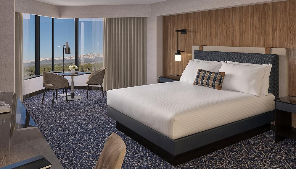 Harveys Lake Tahoe - Lake Tower Room Rendering - Credit DEZMOTIF Studios
