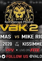 Ken Shamrock's Valor Bare Knuckle  to Present JC Llamas vs Mike Richman 2 on PPV January 11
