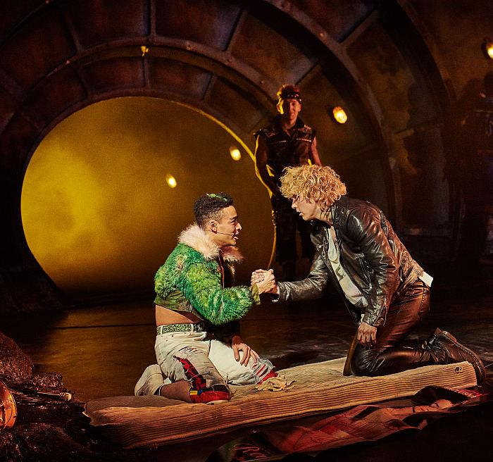 Alex Thomas-Smith as Tink & Andrew Polec as Strat in BAT OUT OF HELL THE MUSICAL. Photo Credit - Specular
