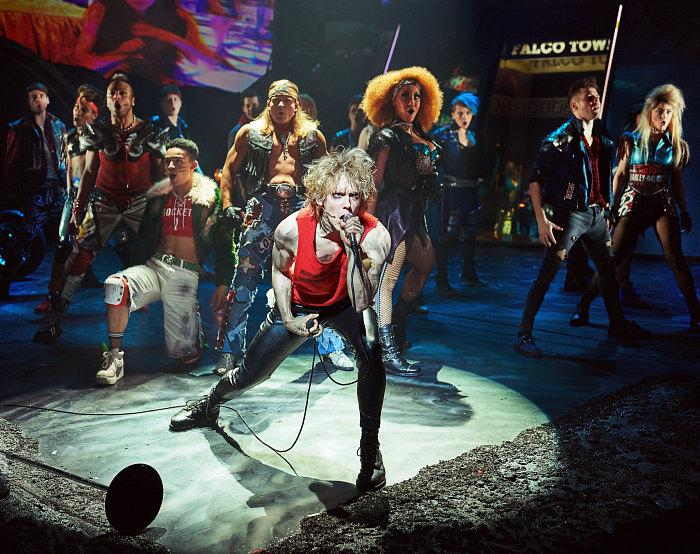 Andrew Polec as Strat & the cast of BAT OUT OF HELL THE MUSICAL. Photo Credit - Specular (2)