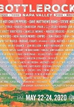 Red Hot Chili Peppers, Dave Matthews Band, Stevie Nicks, Miley Cyrus, Khalid and Anderson .Paak to Headline BottleRock Napa Valley, May 22 – 24, 2020