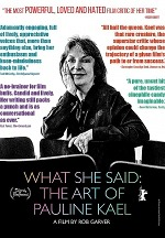 """What She Said: The Art of Pauline Kael"" Coming June 16 from Juno Films"