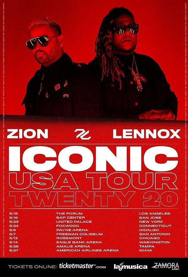 "Zion & Lennox Announce Their First US Tour ""ICONIC Tour Twenty 20"" Commemorating Their Legendary 20 Year Run"