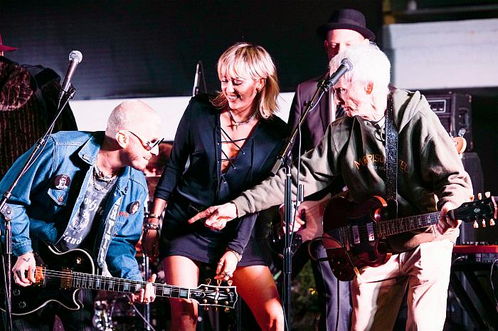 Miley Cyrus, Dennis Quaid and The Struts Join Robby Krieger To Celebrate The Doors' 50th Anniversary of 'Morrison Hotel' at The Sunset Marquis in West Hollywood