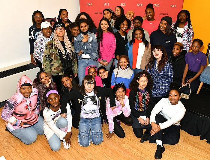 Simone Biles Visits The Lower Eastside Girls Club with SK-II