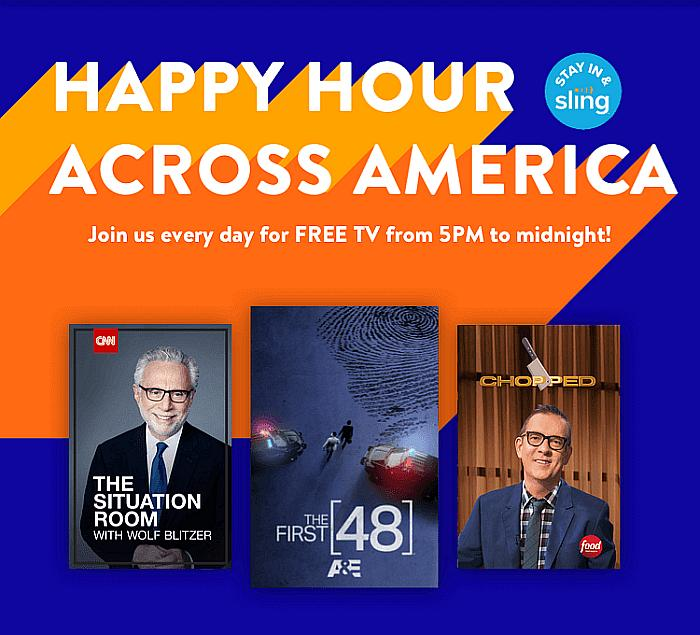 "Sling-TV Reinvents Happy Hour With Free Primetime TV Through Daily ""Happy Hour Across America"""