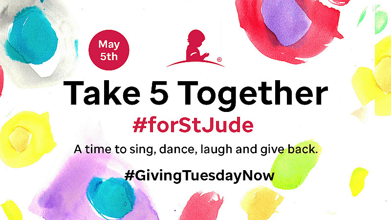 "Michael Strahan, Drew Barrymore, Ashley Tisdale, Kaia Gerber and more Unite for ""Take 5 Together #forStJude"" on May 5 for #GivingTuesdayNow"